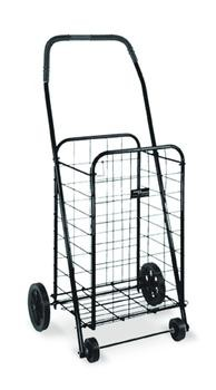 Folding Grocery Shopping Laundry Cart in Black