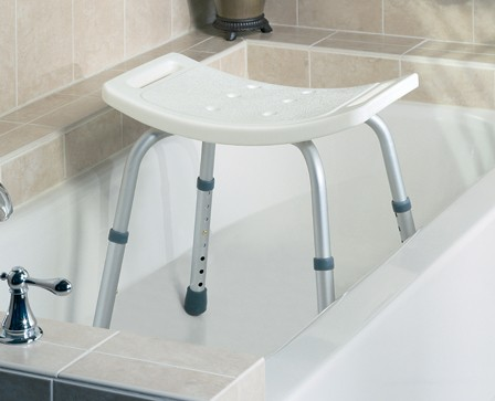 Medline Shower Bath Chair  No Back