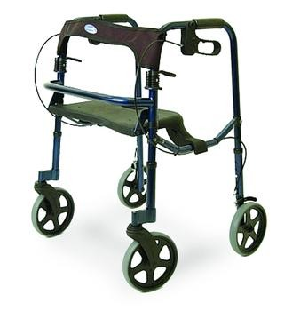 """Invacare Rollite Blue Adult Rollator with 8"""" Wheels INV68100"""