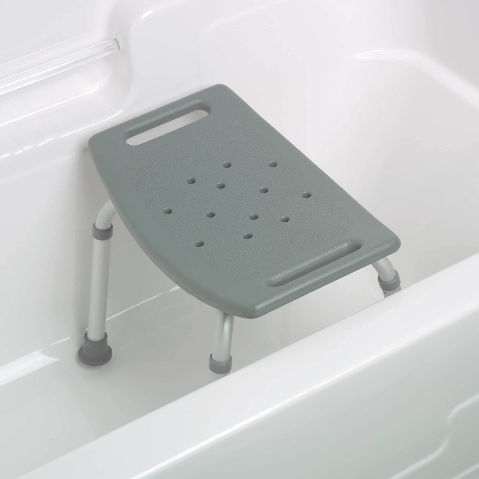 Medline Aluminum Bath Benches without Back GRAY 250 LB CAP MDS89740RH