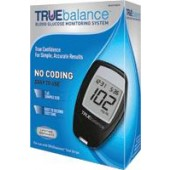 Nipro Diagnostics TrueBalance Glucose Meter Starter Kit, Results in 10 sec, No Coding