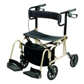 Ultra Ride Rollator Walker and Transport Chair
