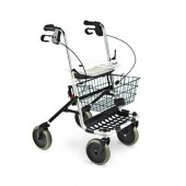Four-Wheel Rollator with Hand Brakes, No Backrest - INV65550