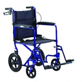 "Invacare Aluminum Transport Chair with 12"" Rear Wheels & Wheel Locks"
