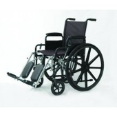 Clearance: Invacare Economy Wheelchair Fixed Arm with Swingaway Footrest ISGEC06