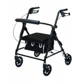 Black Invacare Lightweight Rollator with Loop Brakes PMI1025BKLP
